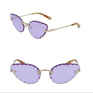 Chloe Rosie 60mm Cat Eye Sunglasses in Purple